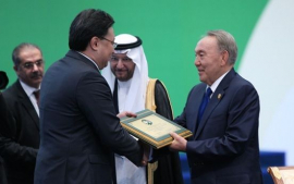 Director General of National Center for Biotechnology Yerlan Ramankulov was awarded a special prize of Sammit OIC in Astana